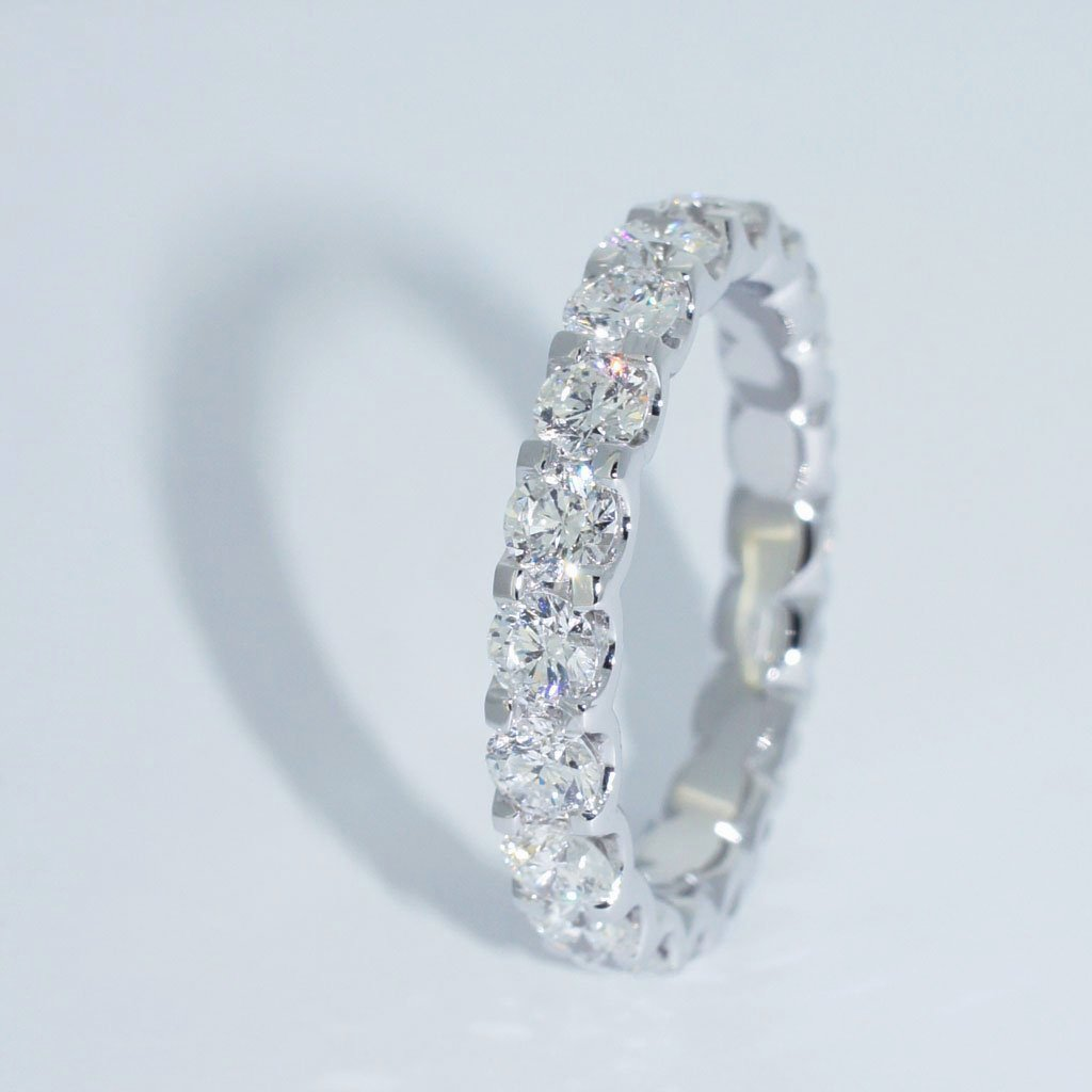 Custom Wedding Rings.Nina Diamond Eternity Ring