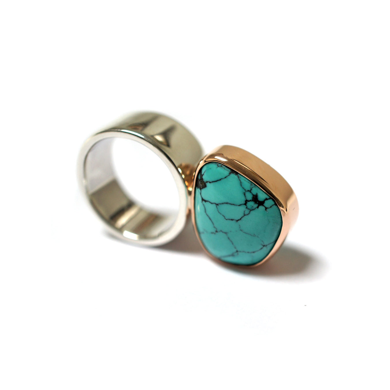 sterling-silver-rose-gold-turqouise-contemporary-ring-sydney-jewellery-designer-lizunova