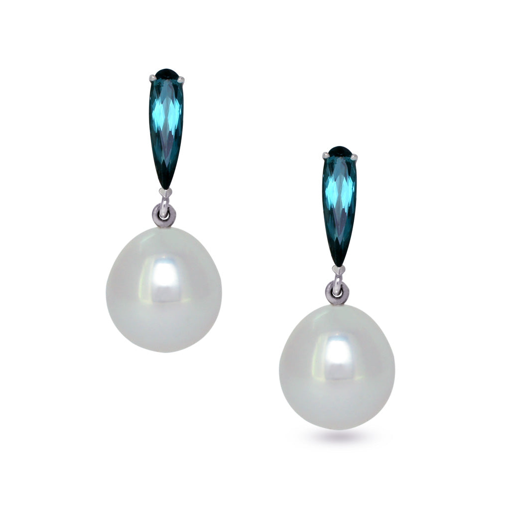 ddc4243be South Sea pearl tourmaline earrings | Sydney jeweller Lizunova