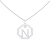 Personalised-Initial-N-diamond-white-gold-pendant-by-Sydney-jewellers-Lizunova