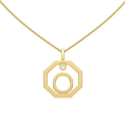 Personalised-Initial-O-diamond-yellow-gold-pendant-by-Sydney-jewellers-Lizunova