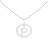 Personalised-Initial-P-diamond-white-gold-pendant-by-Sydney-jewellers-Lizunova