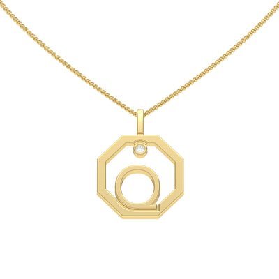 Personalised-Initial-Q-diamond-yellow-gold-pendant-by-Sydney-jewellers-Lizunova