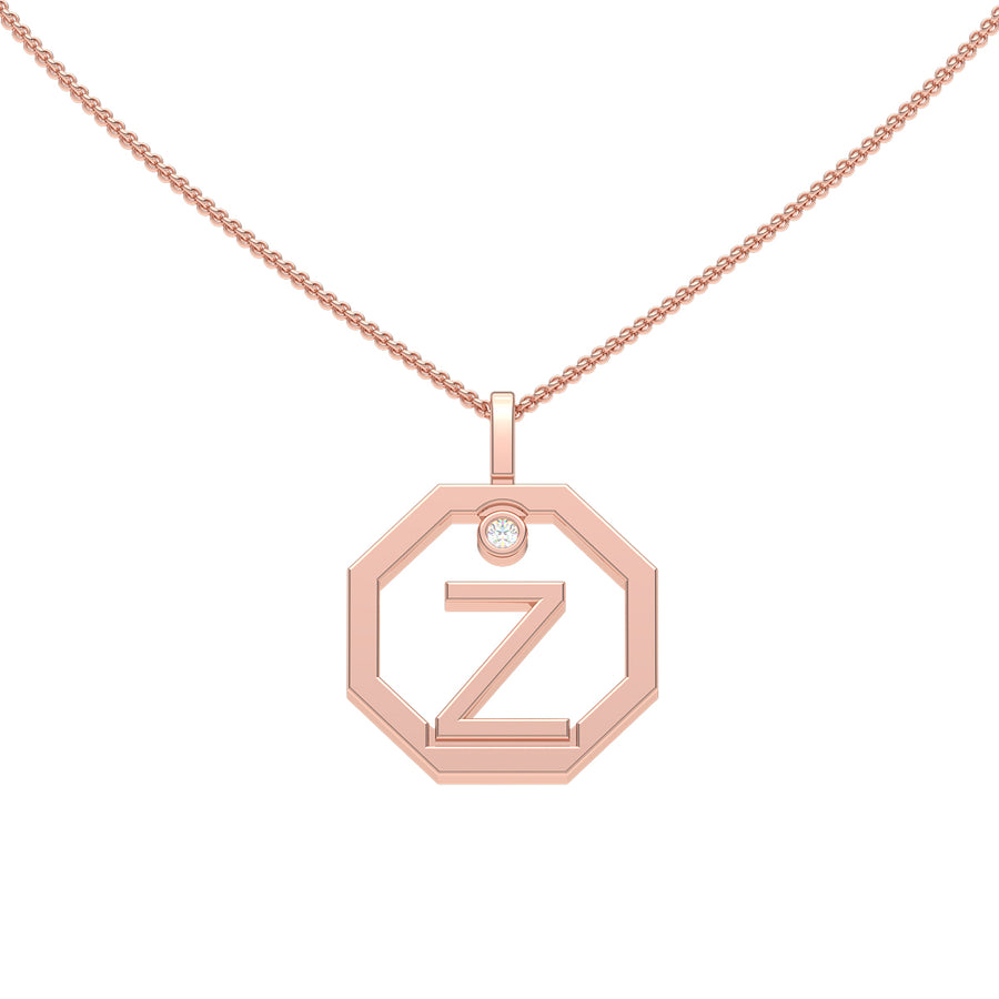 Personalised-Initial-Z-diamond-white-gold-pendant-by-Sydney-jewellers-Lizunova