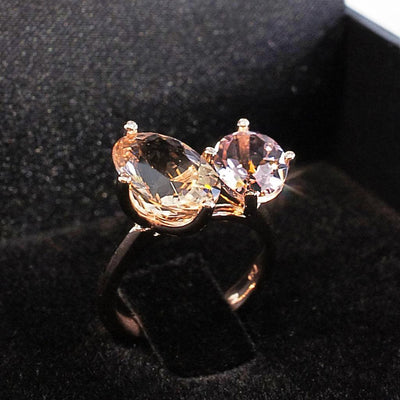 Lizunova Bespoke Bespoke rose gold morganite ring