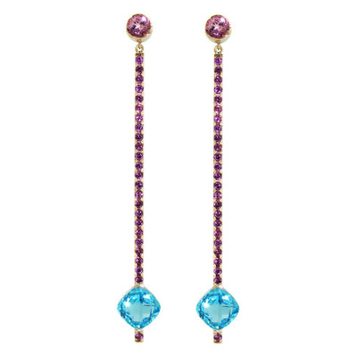 custom-made-Bespoke-Rose-gold-earrings-topaz-rhodolites-sydney-jeweller-lizunova
