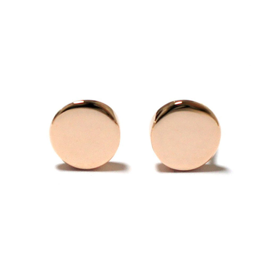 geometric-round-minimalist-stud-Earrings-rose-gold-sydney-jewellery-designer-lizunova
