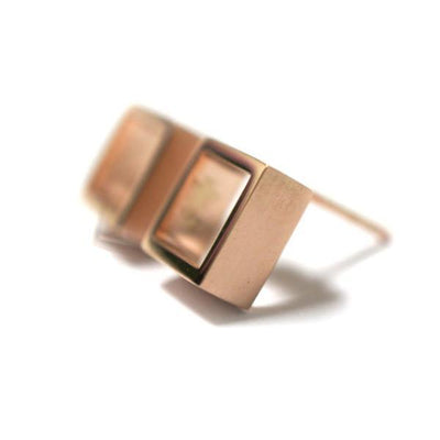 geometric-square-earrings-rose-gold-contemporary-sydney-jeweller-lizunova