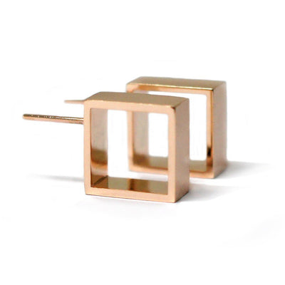 geometric-square-earrings-hoop-rose-gold-contemporary-sydney-jeweller-lizunova
