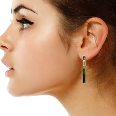 Lizunova Earrings Manhattan / sapphire tourmaline
