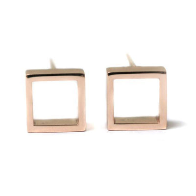Lizunova Earrings Small Geometric square / rose
