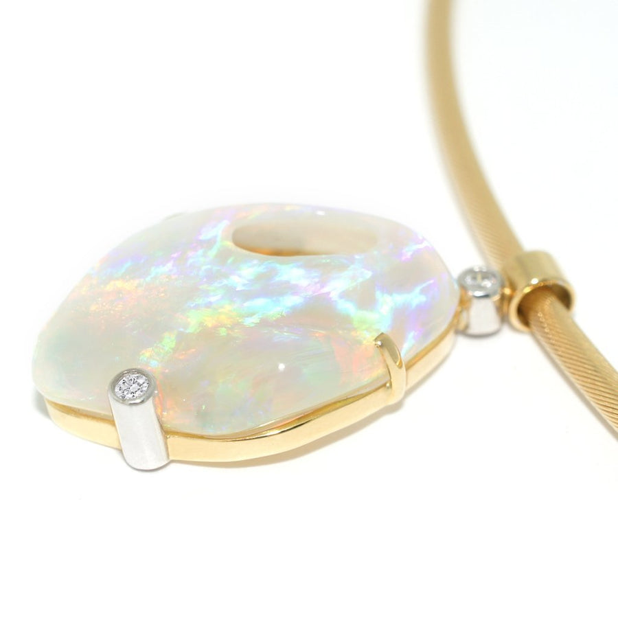 Opal-diamond-gold-necklace-contemporary-jewellery-designer-Lizunova