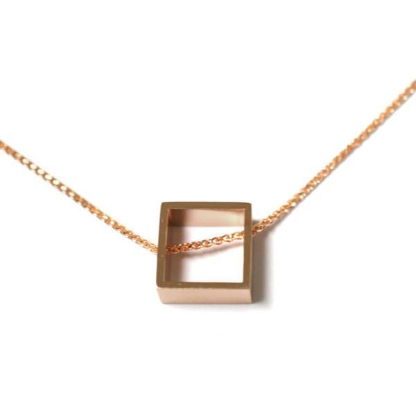 geometric-square-necklace-rose-gold-contemporary-sydney-jeweller-lizunova