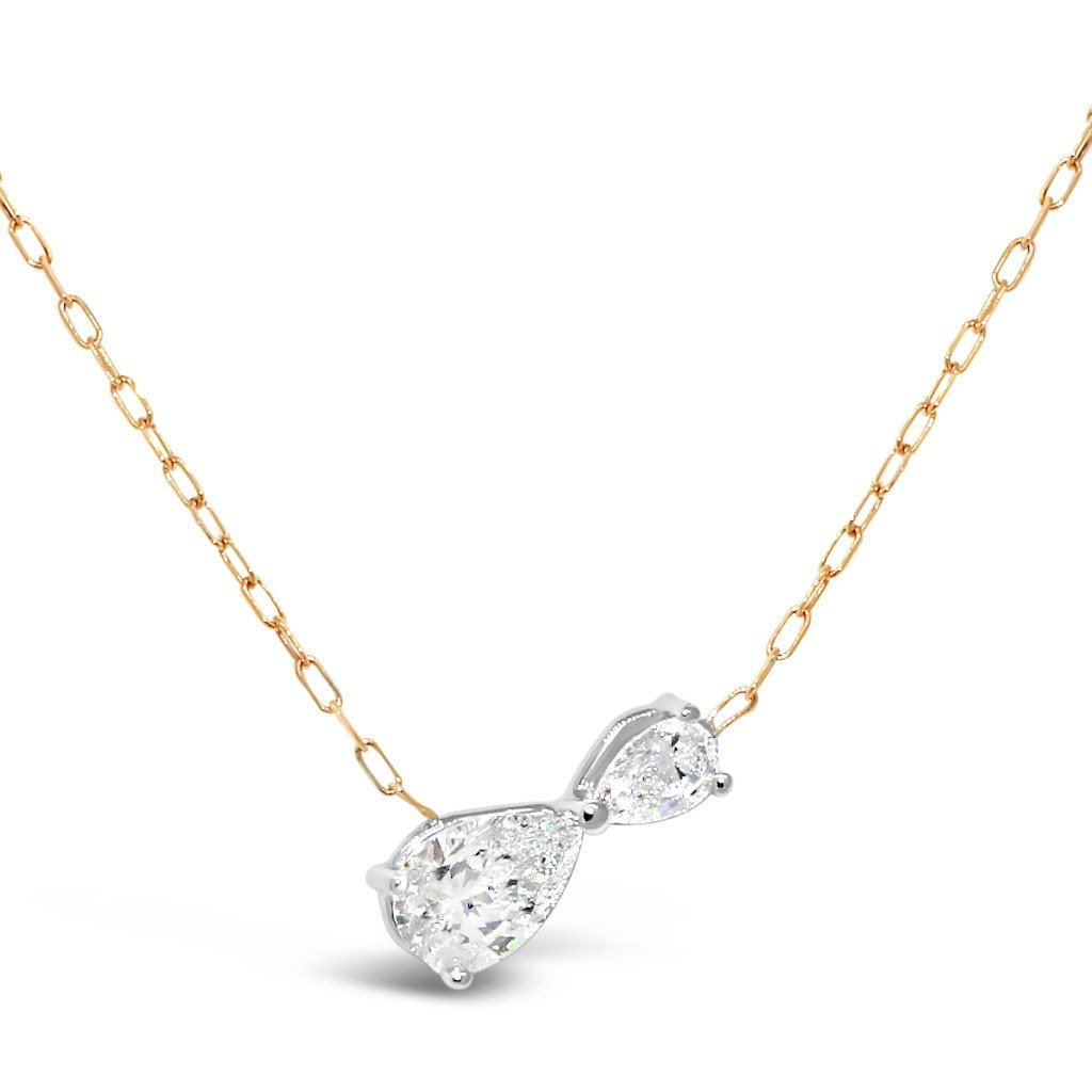 Pear-cut-diamond-necklace-infinity-contemporary-sydney-jewellers-lizunova