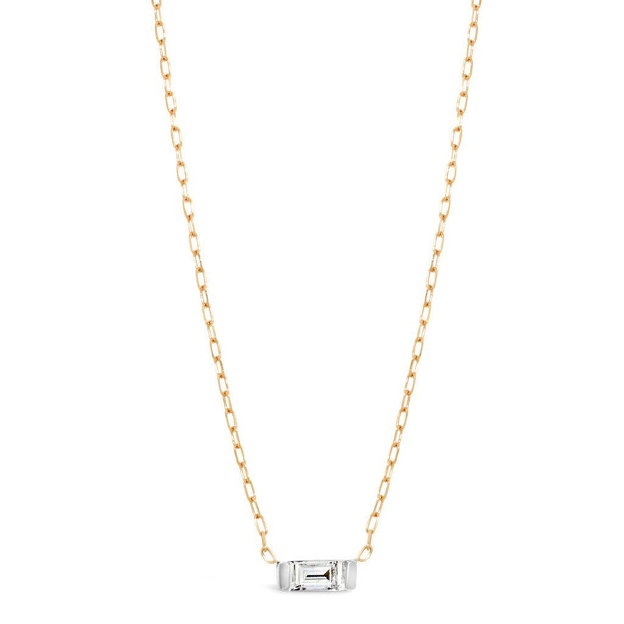 baguette-diamond-Necklace-rose-gold-white-gold-sydney-jeweller-lizunova
