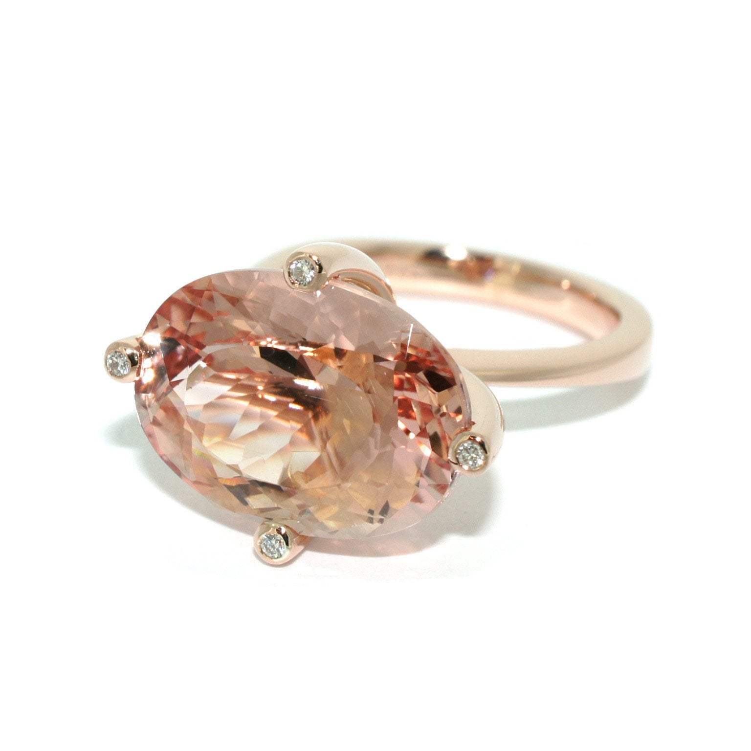 shop ring plain oval engagement rings prev halo diamond band cut morganite