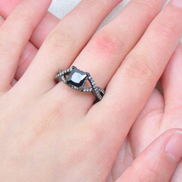 Princess Cut Studded Ring