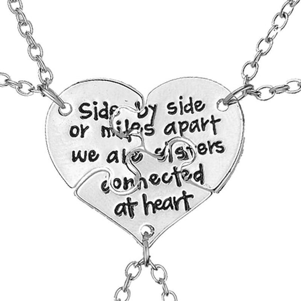 The Sister Heart BFF Necklace