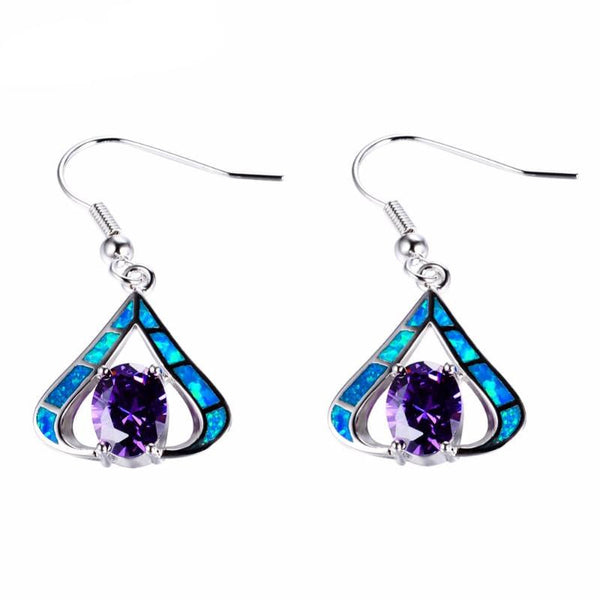 925 Triangle Waterdrop Earring