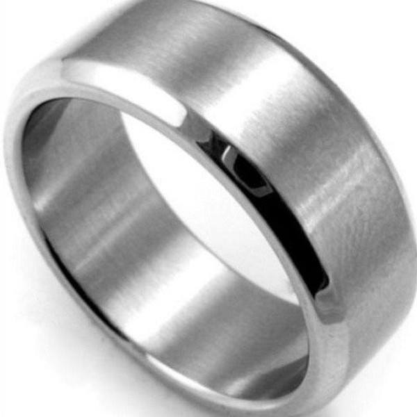 Titanium Black Stanless Steel Ring