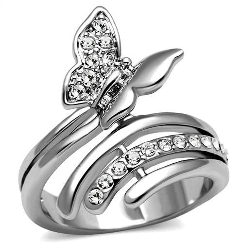 Beautiful Butterfly Silver Ring