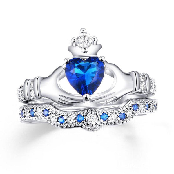 Sapphire Claddagh Ring