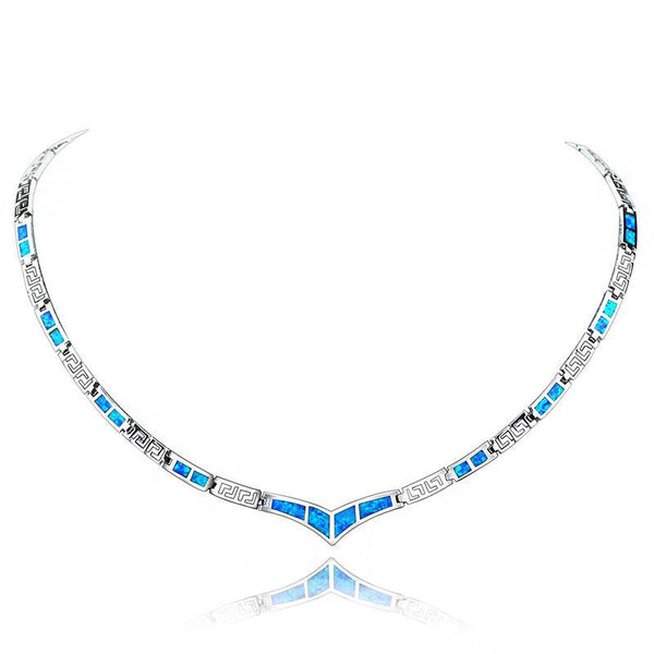 Blue Fire Opal Necklace