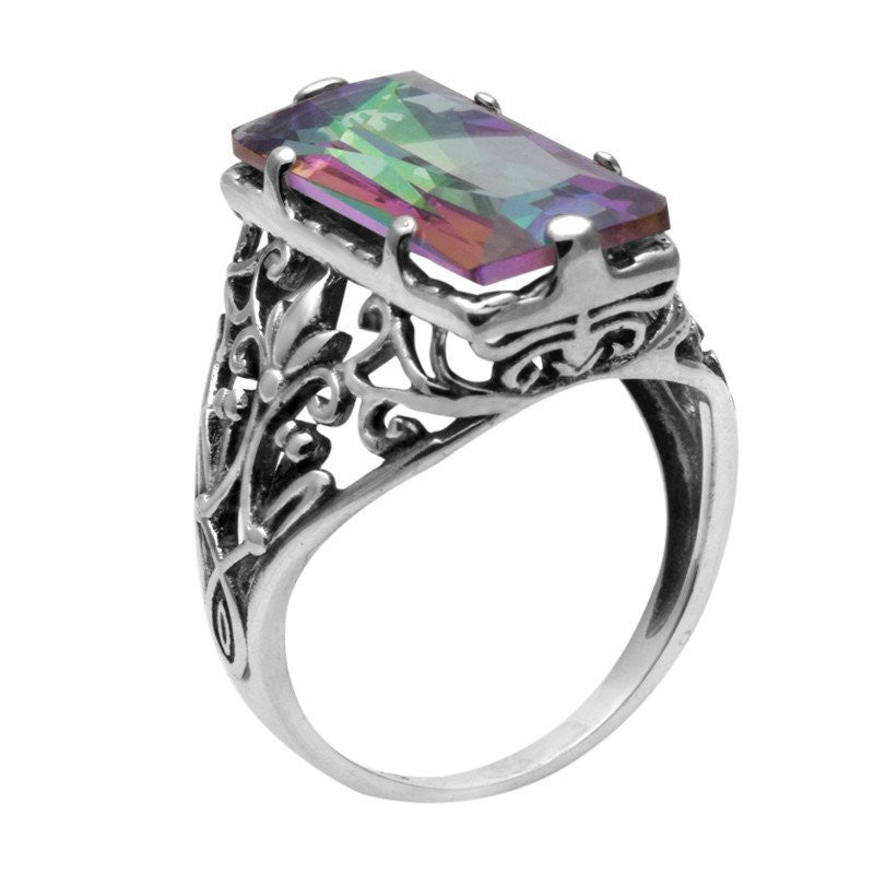 Victorian Mystic Topaz Carving Ring