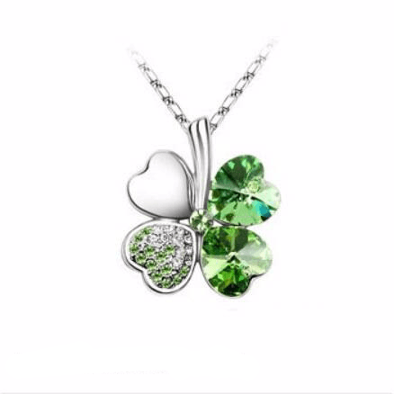 Irish Clover Shamrock Pendant Necklace