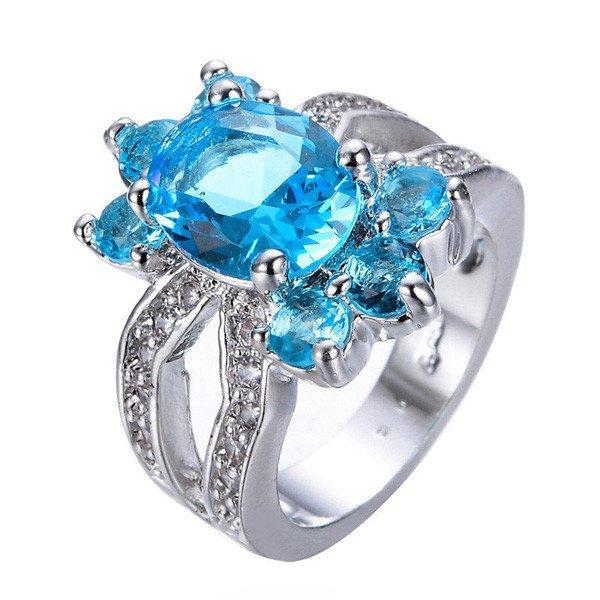 Charming Flower Crystal Ring