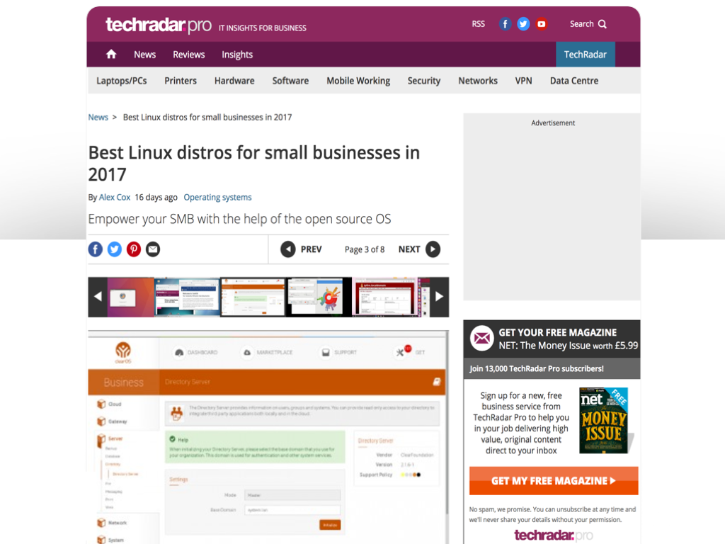 TechRadar.com | Best Linux Distros For Small Businesses In 2017