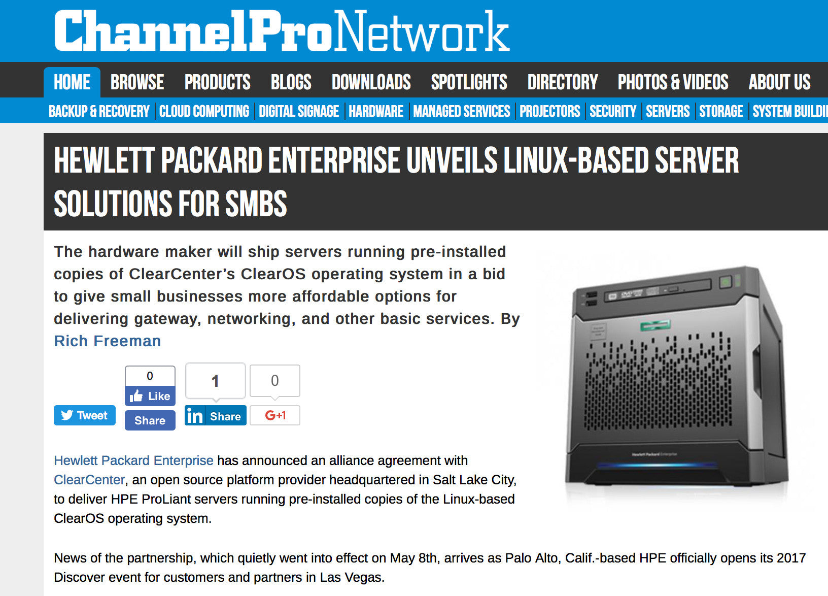 Hewlett Packard Enterprise Unveils Linux-based Server Solutions for SMBs