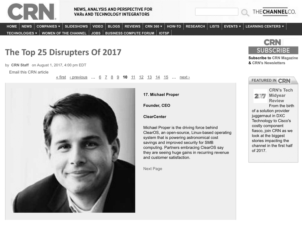 Michael Proper Named to CRN List of 2017 Top 25 Disrupters