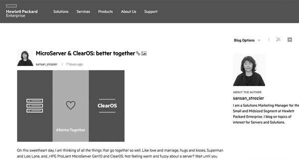MicroServer & ClearOS: Better Together