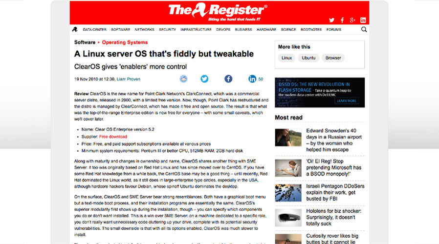 A Linux server OS that's fiddly but tweakable