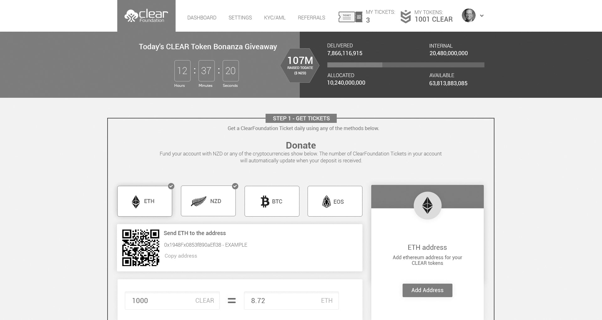 ClearFoundation Announces its Invite-based Public Bonanza Giveaway of up to 10 Million CLEAR Tokens Daily