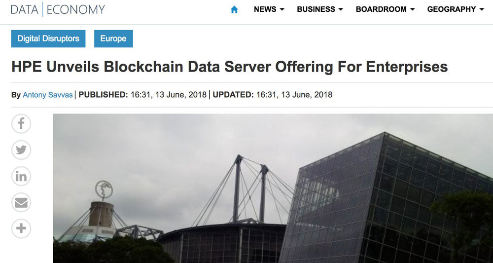 HPE Unveils Blockchain Data Server Offering For Enterprises