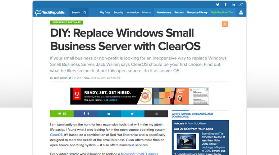 DIY: Replace Windows Small Business Server with ClearOS