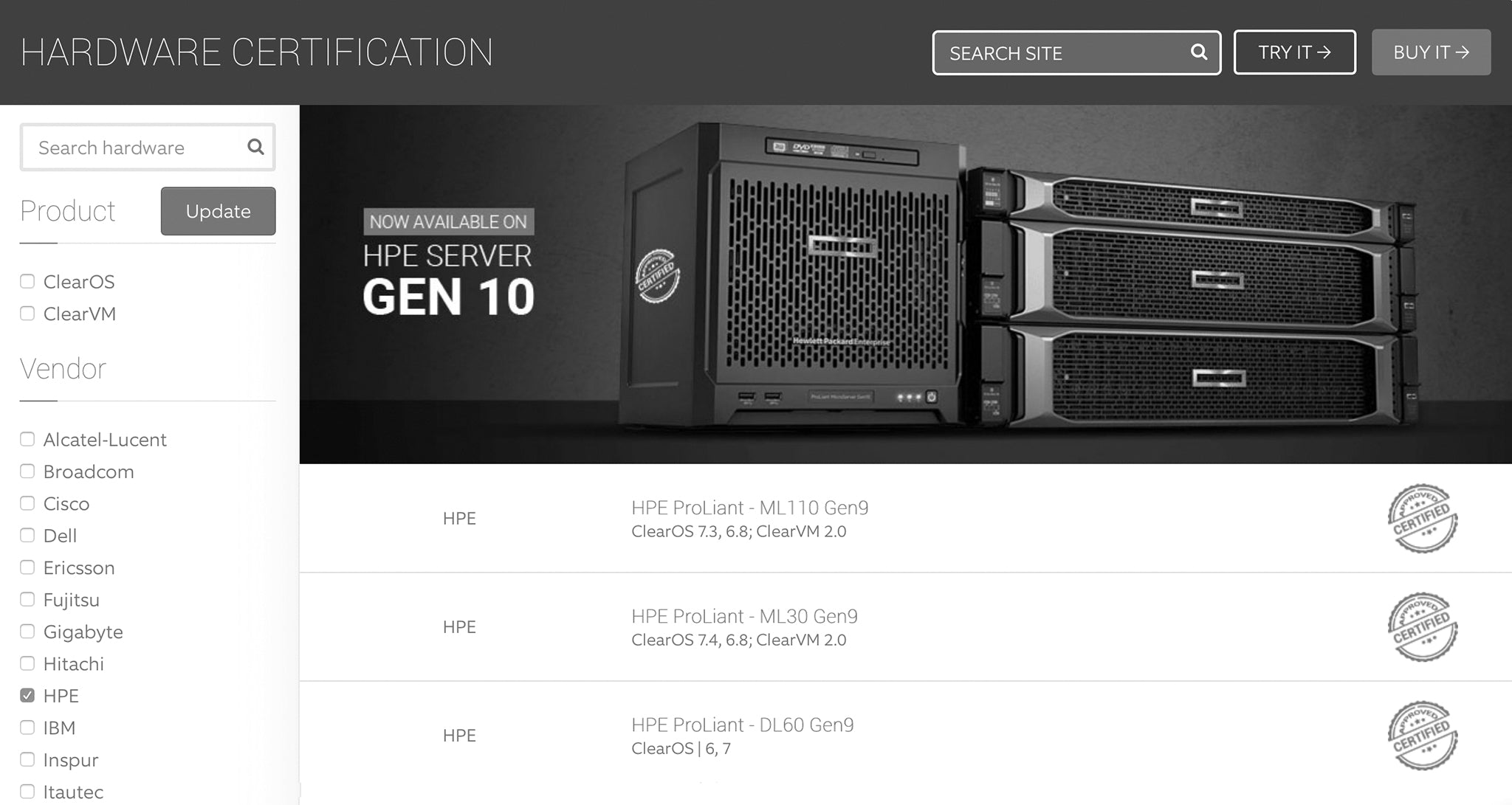 HPE and ClearCenter Certify ProLiant Systems for Server, Network and Gateway Solutions