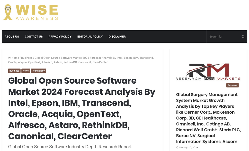 Global Open Source Software Industry Depth Research Report