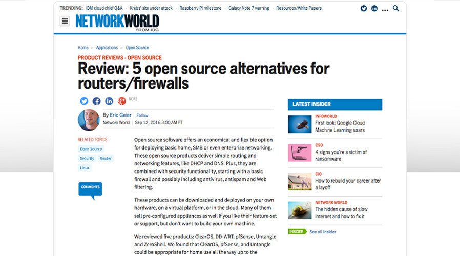 Review: 5 Open Source Alternatives For Routers/Firewalls