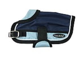 Waterproof Dog Coat 3022-B Navy/ Light Blue (For Big Dogs)