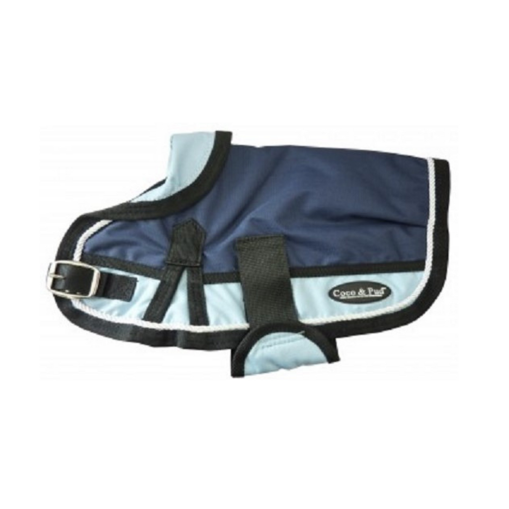 Waterproof Dog Coat 3022 - Light Blue/ Navy - Coco & Pud