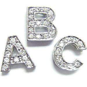 Crystal Alphabet Slide Letters - Silver - Coco & Pud