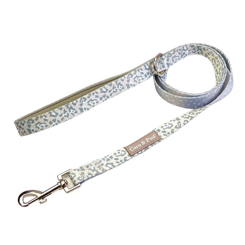Coco & Pud Amur Leopard Reversible Dog Lead