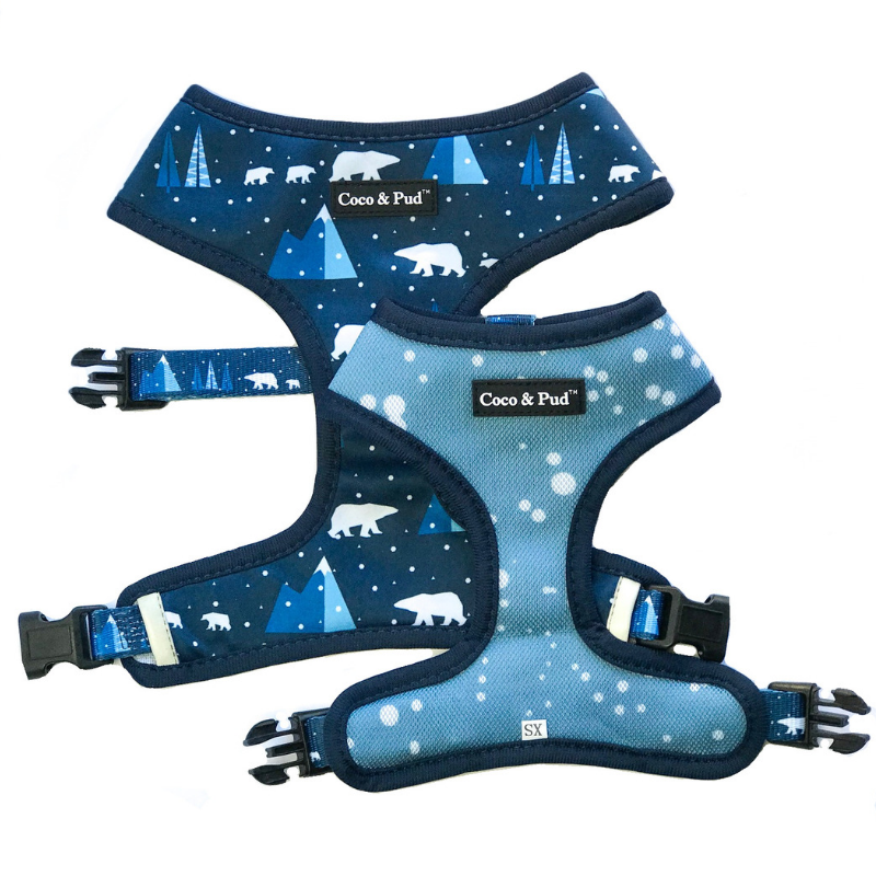 Coco & Pud Arctic Pup Reversible Dog Harness