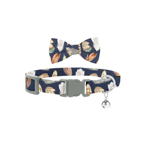 Coco & Pud Birds of a Feather Ct Collar & Bow tie