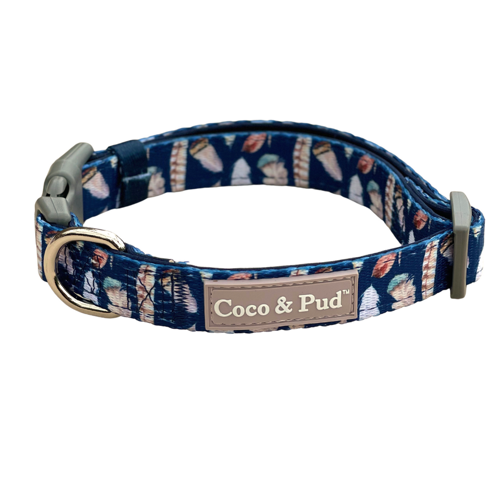 NEW! Coco & Pud Birds of a Feather Dog Collar