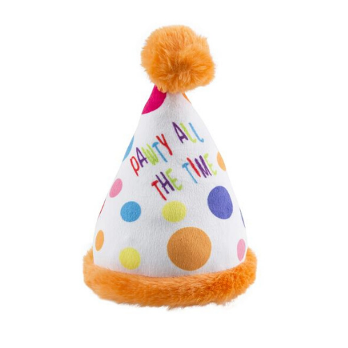 Coco & Pud Birthday Party Hat Dog Toy