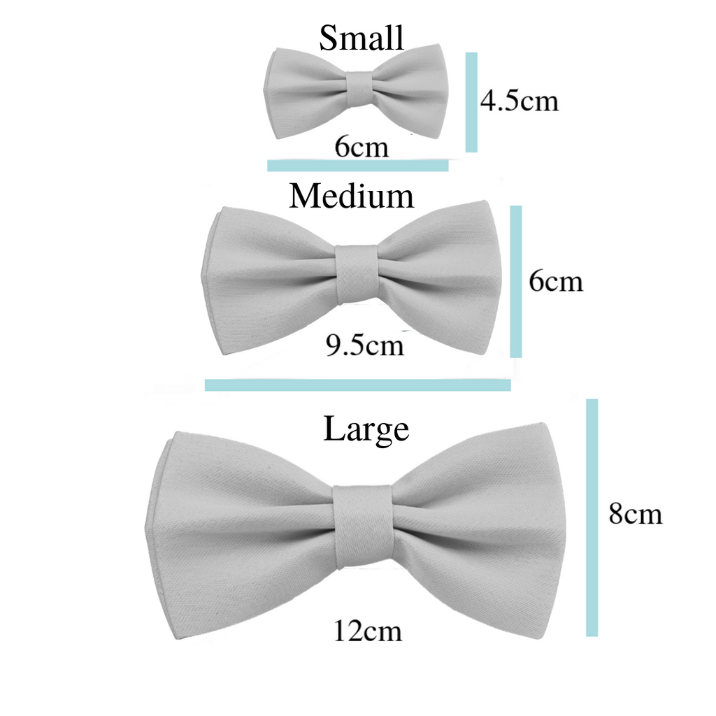 Coco & Pud Bow tie Size Chart